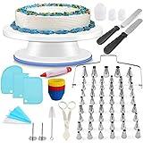 YSSKTC Cake Decorating Kit Supplies with 106 PCS Baking Tools, Cake Rotating Turntable, Icing...