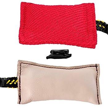 Dingo Gear Ensemble magnétique pour Dressage de Chien avec Aimant intégré, Nylcot Rouge et Cuir véritable