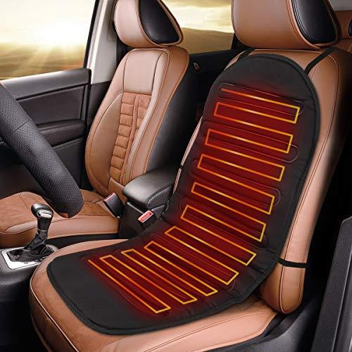 Navaris Auto Sitzheizung Sitzauflage 12/24V - 2 Heizstufen - 95x45cm - Autositz Heizung Auflage - Beheizbare Autositzauflage für PKW LKW Wohnmobil