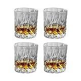 HWY Set di 2 Bicchierini da Liquore Colorati Trasparente Sculpté Bicchieri di Vino Cristallo Ideale per Liquore,Whisky,Vodka O Vino Preferito,Idea Regalo