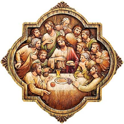 Joseph s Studio by Roman Last Supper Wall Plaque Carved Wood Look Renaissance Collection 10 product image