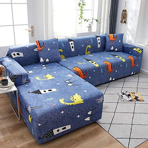 Fundas para Sofa Niño Dinosaurio Azul Cubre Sofa Spandex Estampadas Fundas Sofa Elasticas Universal Espesasfunda Sillon Verano Modernas Fundas para Sofa Chaise Longue 1 Plaza