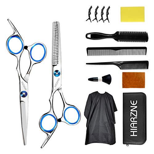 Hair Cutting Scissors Set, Professional 14 Pcs Stainless Steel Hair Cutting Kit with Hair Cutting Scissors,Thinning Shears, Hair Comb, Hair Clips, Barber Cape, Home salon haircut kit