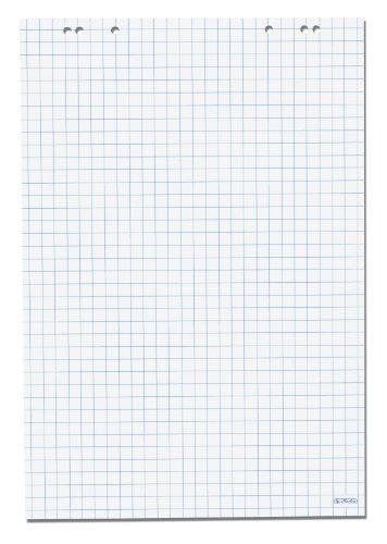 Herlitz 10834141 Flipchartblock, 68x99cm (kariert/gelocht), 5 Blöcke (20 Blatt je Block)