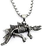 Collar Colgante Collar Acero inoxidable Moda Retro Hueso de dinosaurio Accesorios de joyería Fiesta de cumpleaños Collar de regalo diario