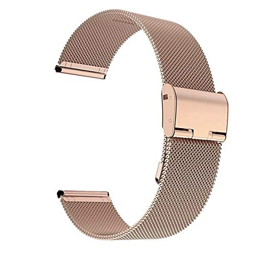 LWHAMA Lwwhama Pulsera de reemplazo de la Banda de la Correa de la Correa de Acero Inoxidable de Plata de Plata de milanesa para Huawei Watch GT 2 Pro Smart Watch Strap
