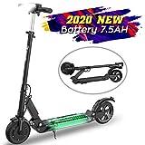 MARKBOARD Trottinette électrique , patinette pliable pour enfant et adulte robuste avec Led (Noir)