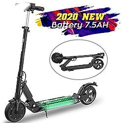 MARKBOARD E-Scooter Klappbar Elektroscooter 8 Zoll Erwachsene Bis 30 km/h Elektroroller | 7.5Ah Akku | 350 Watt Motor Mit Vorderen und Hinteren Rückleuchten City Roller