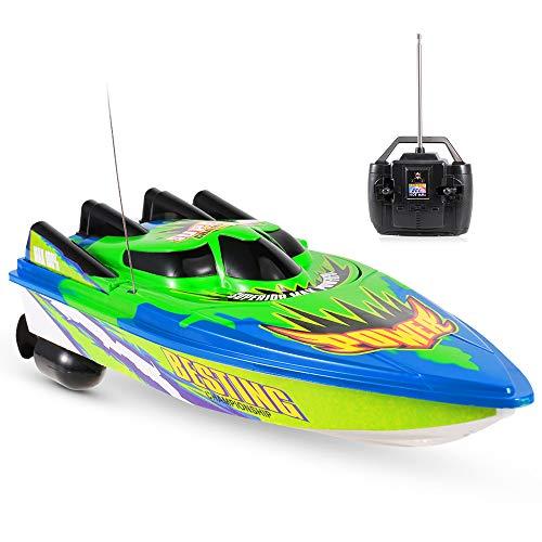 Goolsky Radio Control Racing Boat 20km   h Nave elettrica RC Barca Telecomandata per Lago Piscina Bambini Regalo Toy