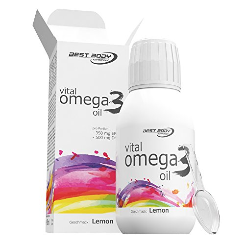 Best Body Nutrition Vital Omega 3 Oil Lemon, 1er Pack (1 x 150 ml)