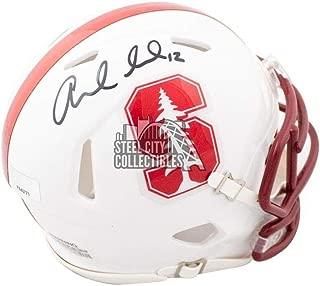 Andrew Luck Autographed Stanford Cardinal Speed Mini Football Helmet - Panini - Panini Certified - Autographed College Mini Helmets
