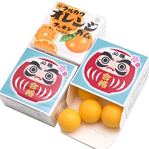 吉松 マルカワガム [ 合格祈願 / オレンジ ] 24個入 合格祈願グッズ 受験生 応援 メッセージ お菓子 ( 個包装 )