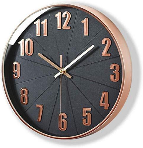 Lucor Rose Gold Wall Clock, Lucor Silent Non Ticking - 12...