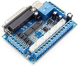 5 Ejes CNC Breakout Board Controlador de Motor Paso a Paso MACH3 Controlador de módulo de Control de Puerto Paralelo con acoplador óptico Cable USB