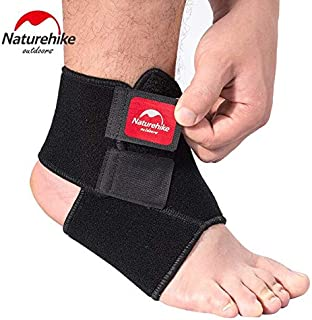HealthyNeeds Naturehike Ankle Support Black Adjustable Pad Protection Elastic Brace Ball Games