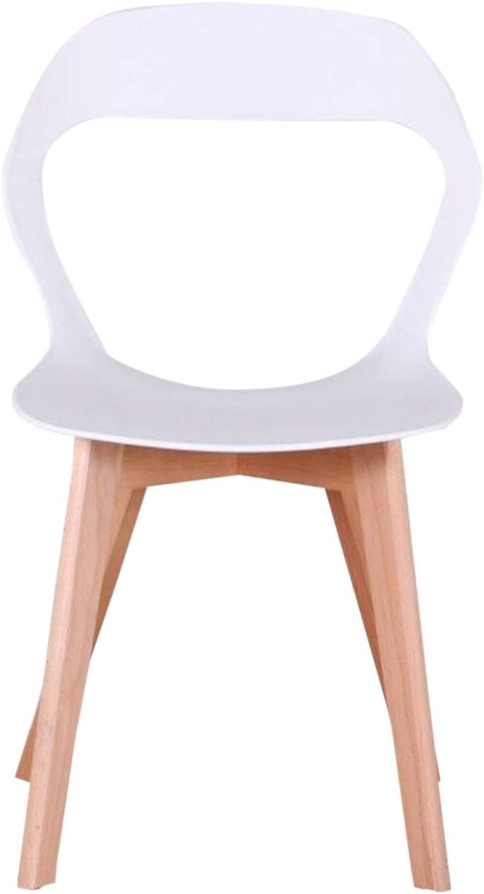 GroBKau Lot de 4 Chaises à Dossier en Plastique Moderne pour Salon, Salle à Manger, Bureau, Salle de Réunion, Restaurant, etc. (Noir) Blanc