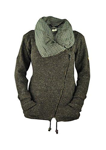 virblatt gefütterte Jacke Winterjacken Damen Wolljacke Winterjacke Frauen warme Jacke – Makalu BRN M