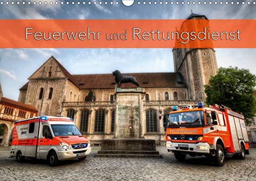 Feuerwehr und Rettungsdienst (Wandkalender 2021 DIN A3 quer)