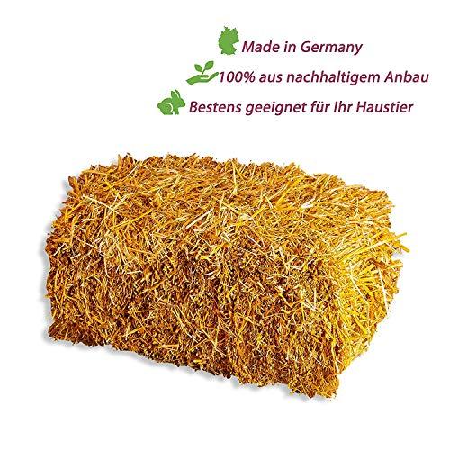 Palatina Werkstatt ® | 15 kg großes Qualitäts Stroh | Strohballen | goldgelb | naturbelassen als Einstreu | für Kaninchen Meerschweinchen Hasen oder als Deko | direkt vom Bauern | VK: 24,95€
