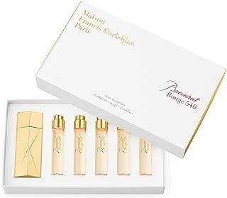 Maison Francis Kurkdjian Baccarat Rouge 540 Eau De Parfum Set! Scent Included: Jasmine, Saffron, Cedar Wood And Ambergris! Scented Fragrance Made in France! Five-Piece Travel Perfume Spray Gift Set!
