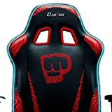 Clutch Chairz Pewdiepie Chair LED - Ergonomic Gaming Chair, Video Game Chairs, Office Chair, High Chair and Lumbar Pillow for Computer Desk - Black - Throttle Series
