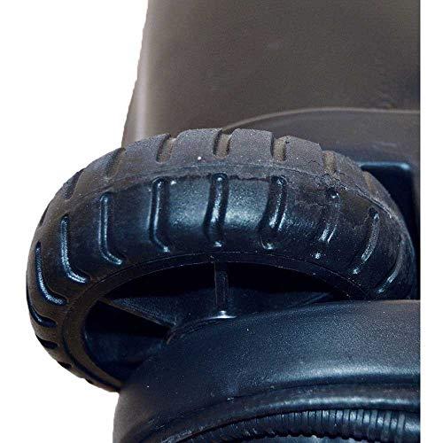 Aquatys Plongee Roller 110L Sac à Roulettes Mixte Adulte, Noir/Orange
