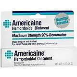 Americaine Hemorrhoidal Ointment Maximum Strength 20% Benzocaine 1 oz (Pack of 4)