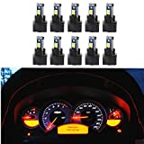 74 bulb led - WLJH 10 Pack White Canbus T5 Led Bulb 2721 37 74 Wedge Lamp PC74 Twist Sockets Dash Dashboard Lights Instrument Panel Cluster Leds Car Replacement