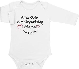 Shirtgeil Alles Gute Zum Geburtstag Mama Hab Dich Lieb Baby Langarm Body