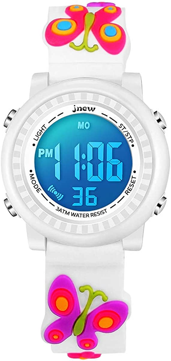 Kids Watches Girl Ages 3-12 Ca 3D Same day shipping Cute Sports Waterproof Ranking TOP4