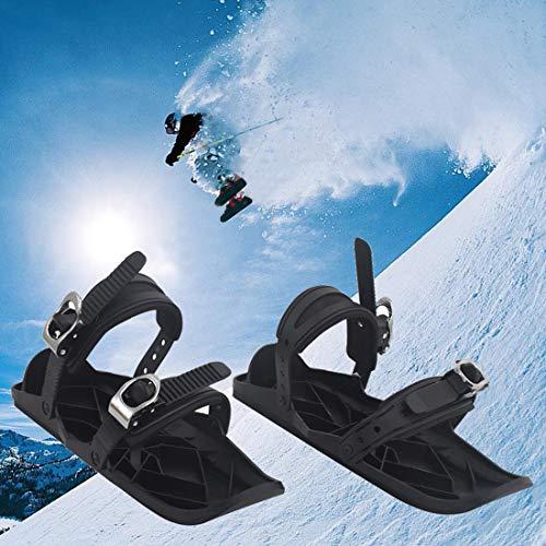 LYRAL 1 Paar Ski Schoenen Mini Skates voor Sneeuw, Verstelbare Skiën Sled Snowboard Ski Schoenen voor Heren Vrouwen, Winter Sportuitrusting met Draagtas