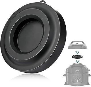 AIEVE Soporte para tapa de olla, soporte de silicona para olla a presión Ninja Foodi y freidora de aire, 5 qt, 6.5 qt y 8 cuartos de galón negro