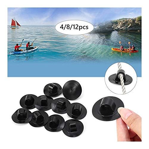 YING-pinghu Accesorios de Kayak Puerto de Agua 4/8/12 Piezas de Cuerda Hebilla de Remo Barcos Arrastre Ganchos de Seguridad Botón de Pesca Kayak Inflable Barco Barco Accesorios de plástico Repuesto