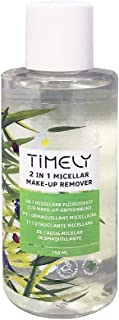 Timely 2-in-1 Micellar Makeup Remover with Aloe, Mountain Arnica and Camomile Extracts, 150 ml