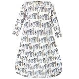 Hudson Baby Unisex Baby Long Sleeve Cotton Jersey Sleeping Bag, Royal Safari, 0-6 Months