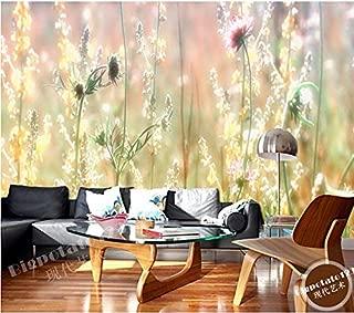 XZCWWH The Latest Custom 3D Murals Fantasy Sunshine Weed Wild Flowers Living Room Sofa Tv Wall Bedroom Background Wall Paper,300Cm(W)×210Cm(H)