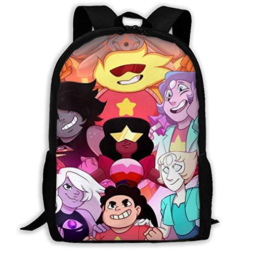 Hdadwy Ste-ve_n Uni-ver-se - Mochila escolar para adolescentes y adultos, ligera, impermeable, mochila para estudiantes universitarios, mochila informal, antirrobo, para viajes al aire libre, para hom