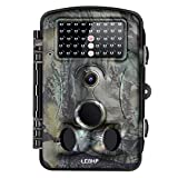 LESHP Trail Camera 12MP 1080P HD Game&Hunting Camera with 3 Pir Sensors, Time Lapse 2.4 Inch LCD...