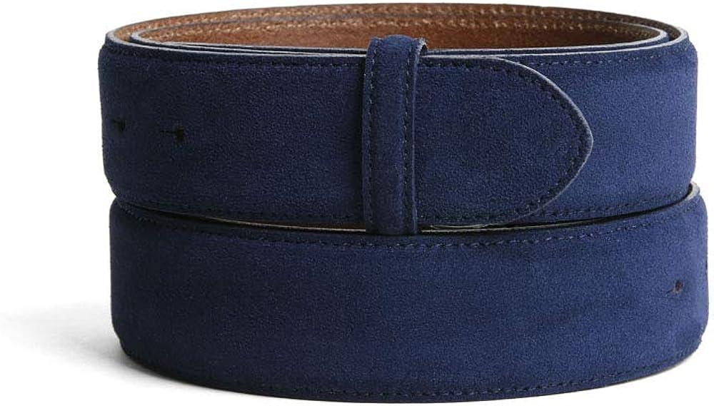 VaModa Belt, Cinturón en piel, modelo Island, colore azur, sin hebilla