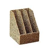XYZMDJ Paglia Intrecciata Tabella Folder Storage Box Desktop Rattan Intrecciato a più Strati di File di Frame Cartella Information Storage Rack Basamento di Libro Box