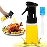 Pulverizador de aceite de oliva de grado alimenticio, 210 ml, portátil, reutilizable, de grado alimenticio, para freidora de aire caliente, cocina, ensalada