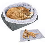 pedy Pet Bed, Luxury Fur Round Dog Bed for Cats and Dogs Cats and Dogs Self-Warming Plush Cushion Bed (pet mat)