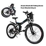 AIMADO Bicicletta Elettrica PIEGHEVOLE Mountain Bike 250 W 25 km/h Shimano 21 in Alluminio Batteria 36 V Luce Anteriore con 3...