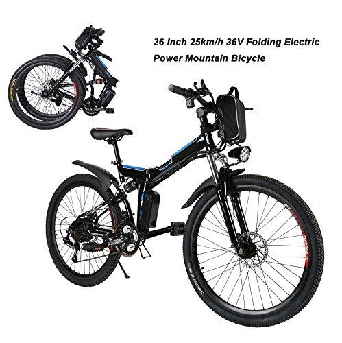 AIMADO Bicicletta Elettrica PIEGHEVOLE Mountain...