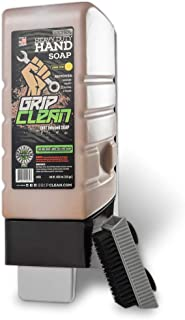 Grip Clean   Wall Mounted Shop Soap Dispenser kit + Hand Cleaner for Auto Mechanic, Garage, or Industrial use