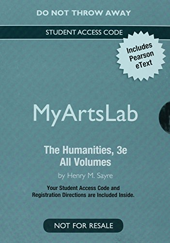 NEW MyLab Arts with Pearson eText -- Valuepack Access Card -- for The Humanities: Culture, Continuity and Change, All Vo
