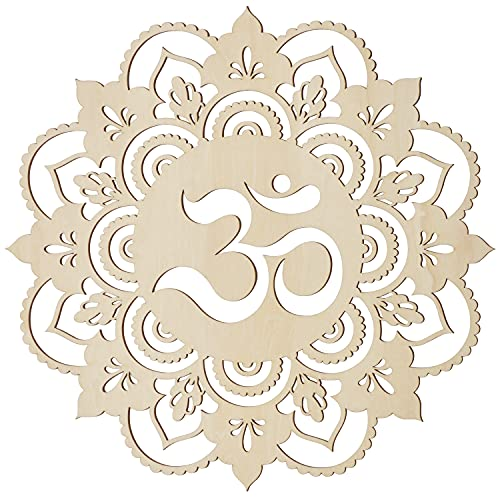 Fourth Level MFG 12' Om, Sacred Geometry Wood Wall Art, Zen Home Decor for Yoga/Meditation Room, Spiritual Gift for Baptism, Wedding, Housewarming