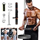 PELLOR Fitness LAT and Lift Pulley System, Weight Pulley System with Loading Pin, Cable Machine for Triceps Pull Down, Biceps Curl, Back, Forearm, Shoulder- Pulley Cable System Home Gym Equipment