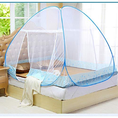 Maritown Moskitonetz-Bett-Überdachungs-Knall-Faltbare einzelne Tür, einfach schnell installieren, Insektennetz mit Unterseite für Bett-kampierendes Reise-Haus im Freien