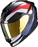 Scorpion EXO-1400 Carbon Air Casco Moto, Hombre, Rojo & Azul, L